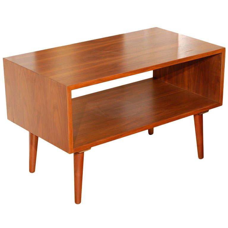 vintage danish side table tv stand at 1stdibs. Black Bedroom Furniture Sets. Home Design Ideas