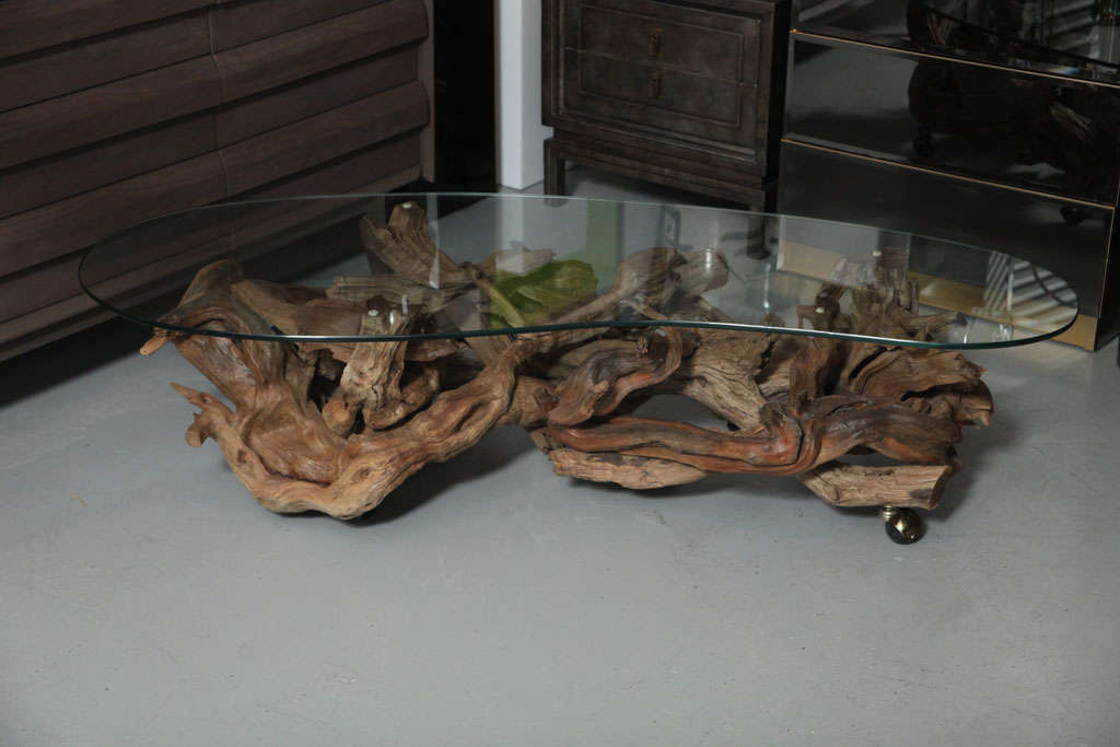 1960 39 s driftwood coffee table at 1stdibs. Black Bedroom Furniture Sets. Home Design Ideas