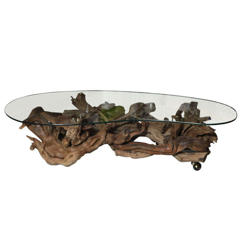 Coffee Table Made From Driftwood: 1960's Driftwood Coffee Table At 1stdibs