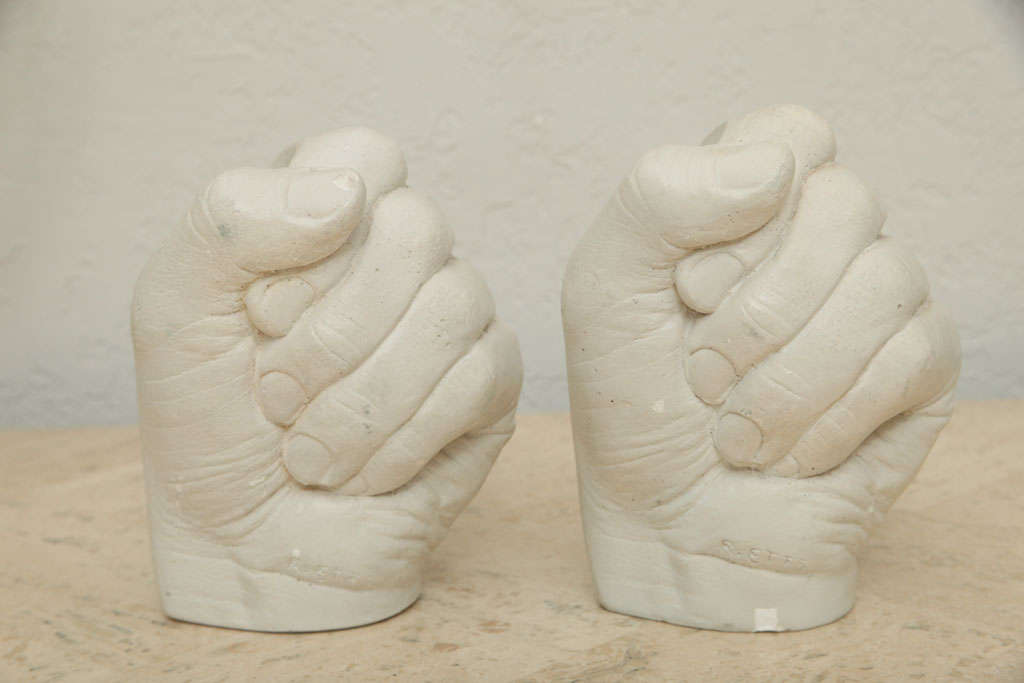 Richard Etts Plaster Candleholders In Good Condition For Sale In North Miami, FL
