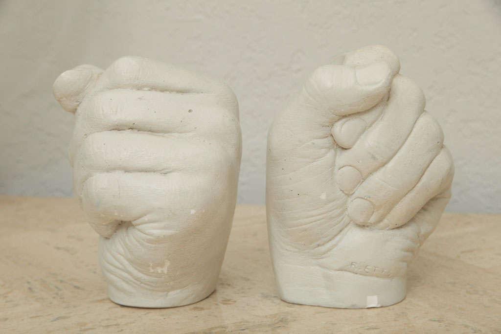 Richard Etts Plaster Candleholders For Sale 2