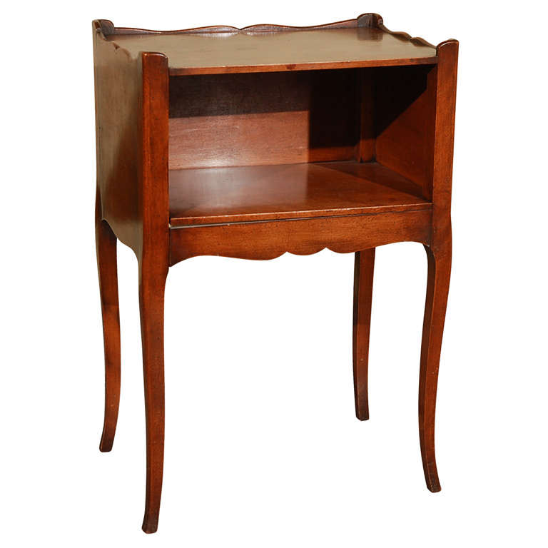 French walnut table de nuit at 1stdibs for Table de nuit chinoise