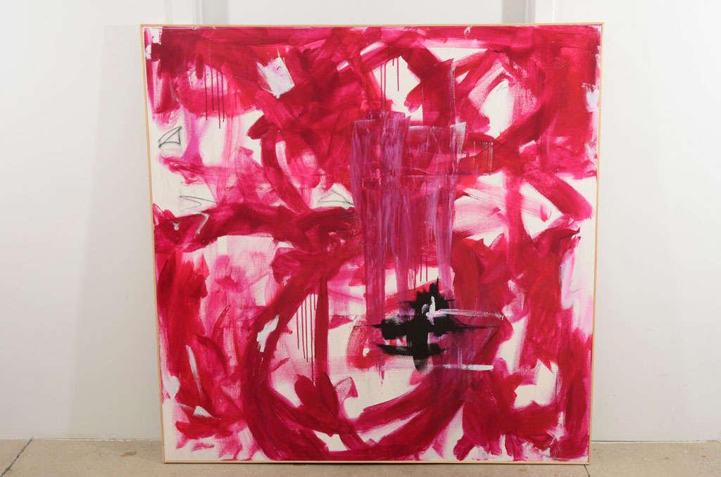 "Original Abstract by Karina Gentinetta, Signed (48"" x 48"") 2"