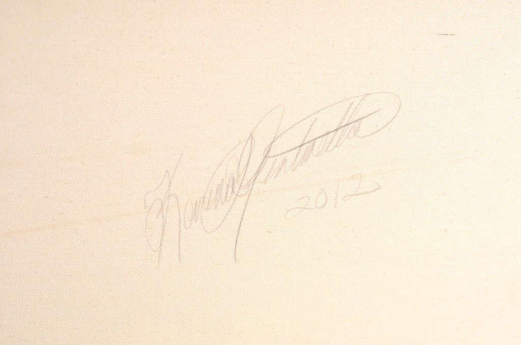 "Original Abstract by Karina Gentinetta, Signed (48"" x 48"") 6"