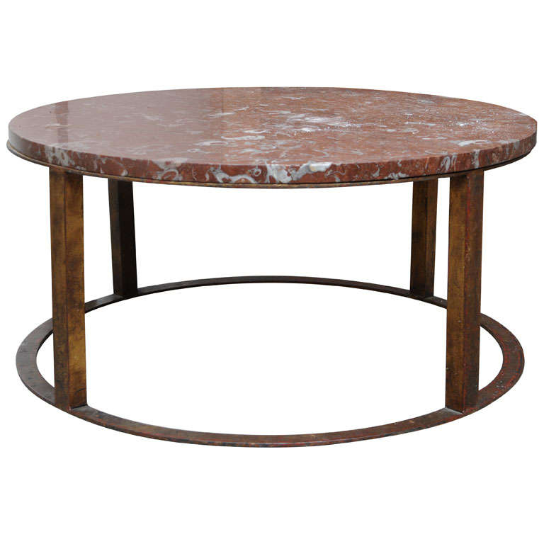 Round French Marble Top Coffee Table At 1stdibs
