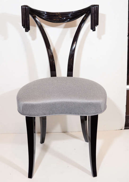 Elegant desk vanity chair by grosfeld house at 1stdibs - Tall vanity chair ...