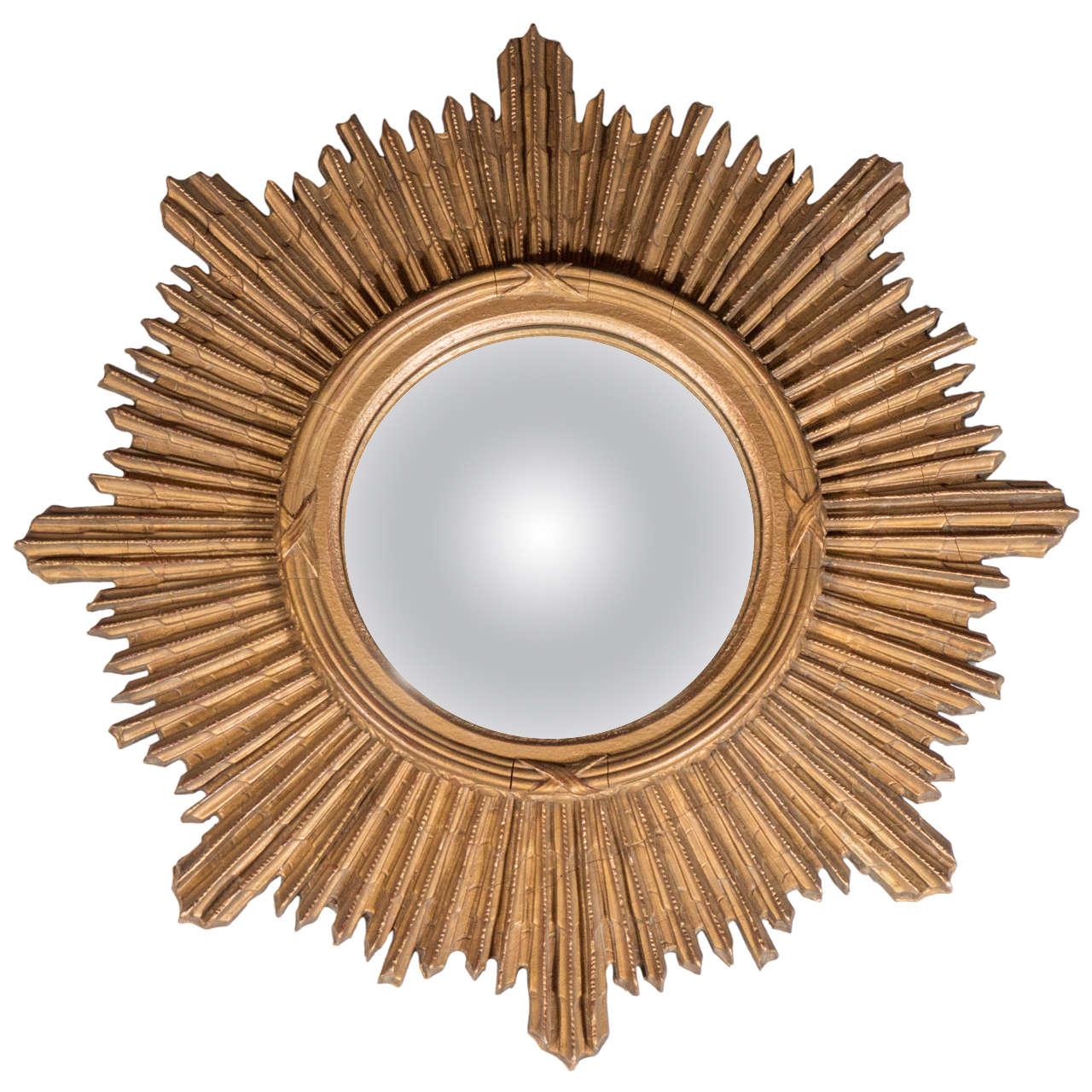Art Deco Starburst Gilded Mirror For