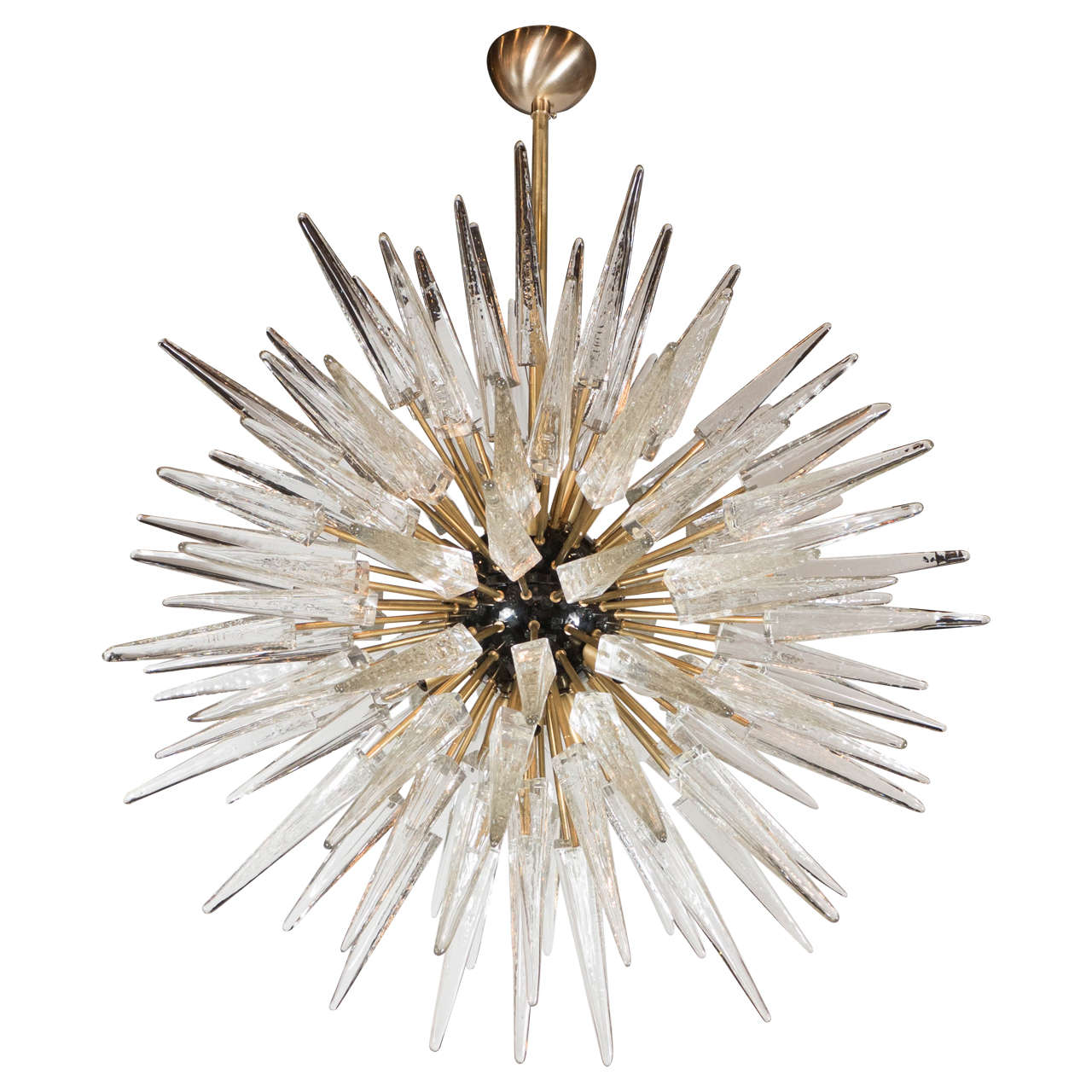 impressive handblown murano glass spiked starburst chandelier . impressive handblown murano glass spiked starburst chandelier at