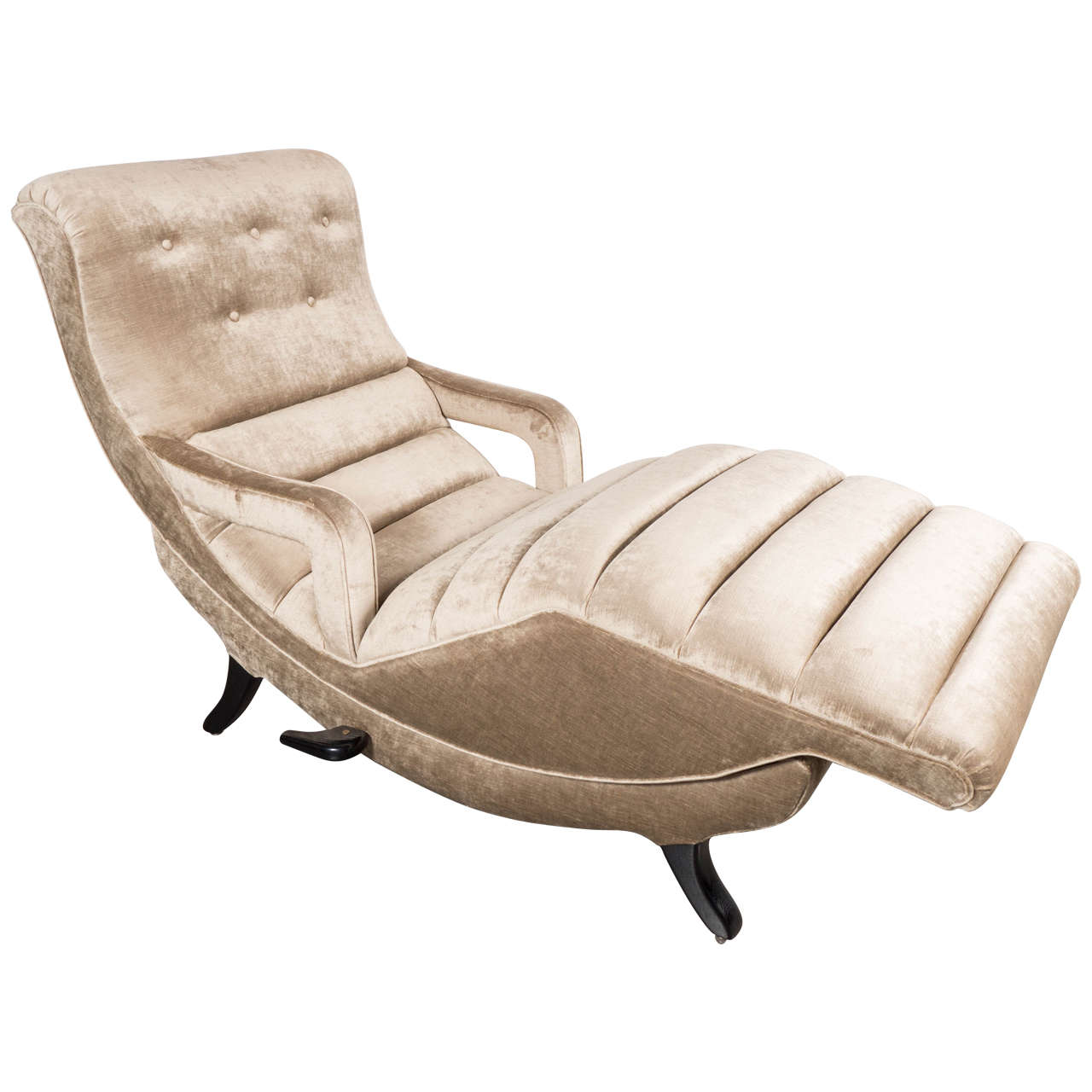 Sophisticated Mid Century Modernist Adjustable Chaise At