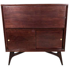 Sophisticated Mid-Century Modernist Bar Cabinet