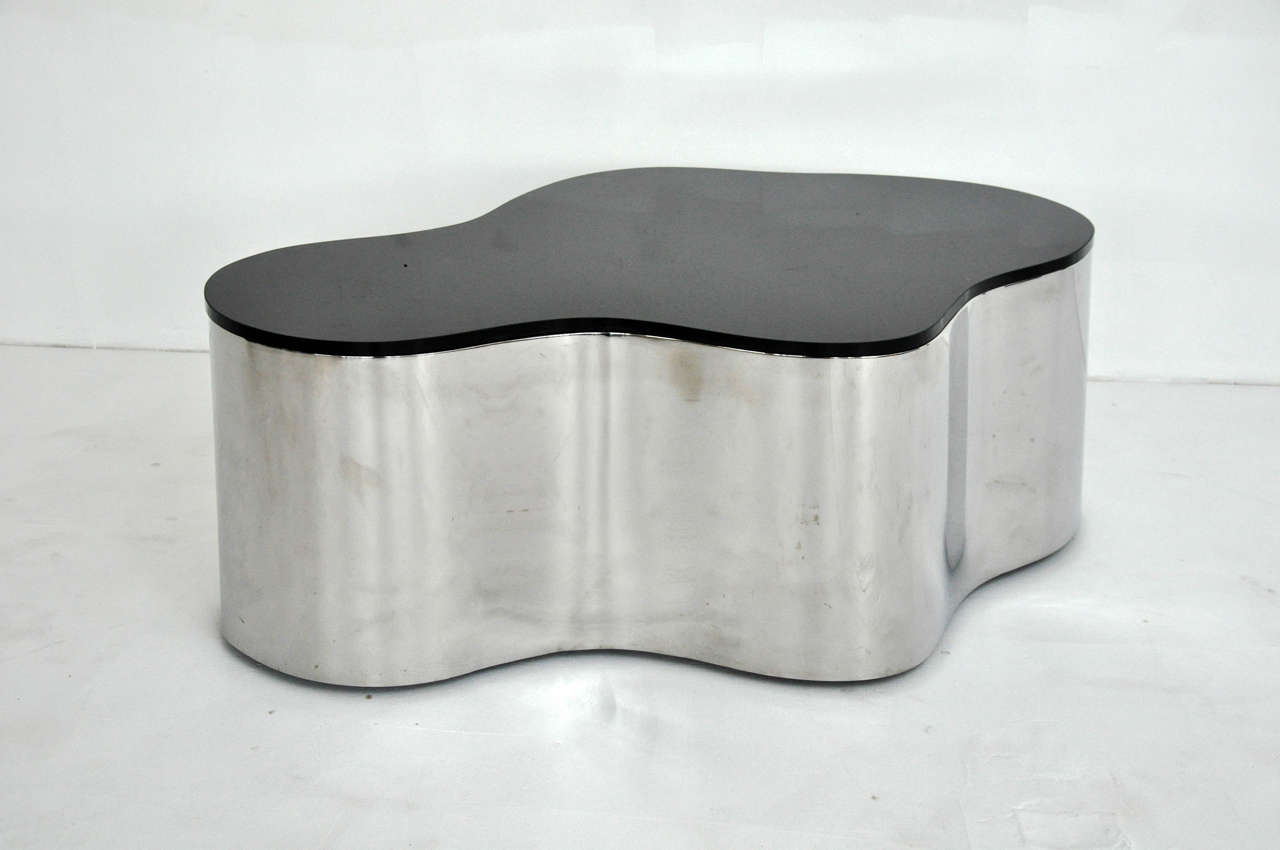 American Free-Form Coffee Tables by Karl Springer For Sale