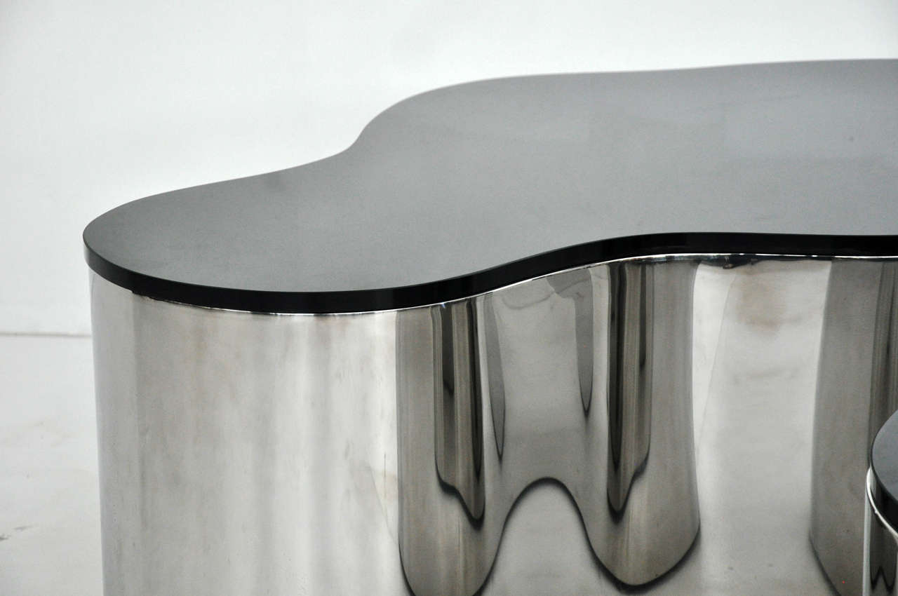 Pair of Free-Form Coffee Tables by Karl Springer 4