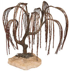 Brian Bijan Sculptural Weeping Willow in Mixed Metals