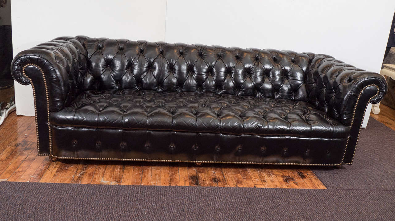 Tufted Leather Chesterfield SofaLiking Very Much This Black Leather  Chesterfield Or A Version