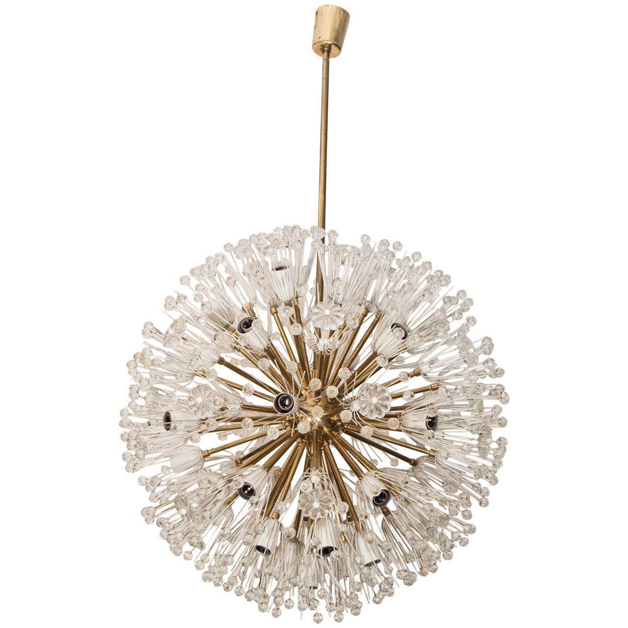 An emil stejnar large sputnik chandelier at 1stdibs for Sputnik chandelier
