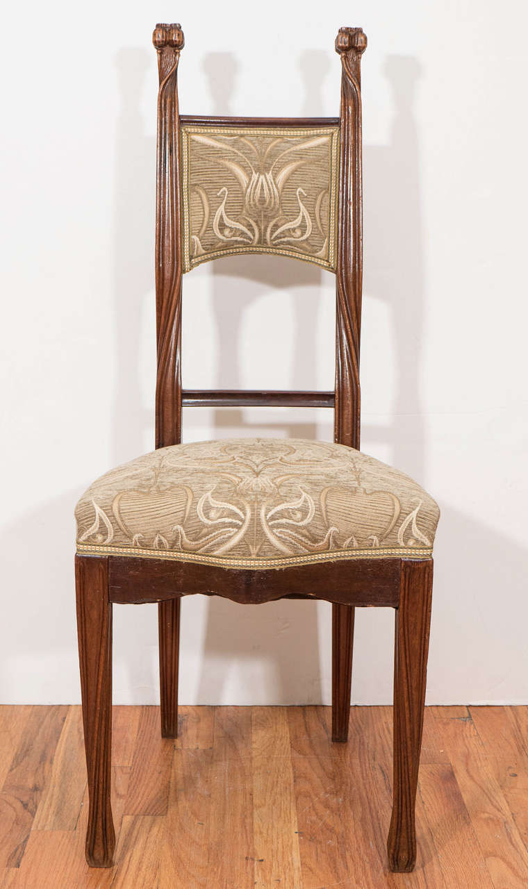 Ordinaire An Antique French Art Nouveau Chair, Designed And Manufactured By Louis  Majorelle, Circa 1890