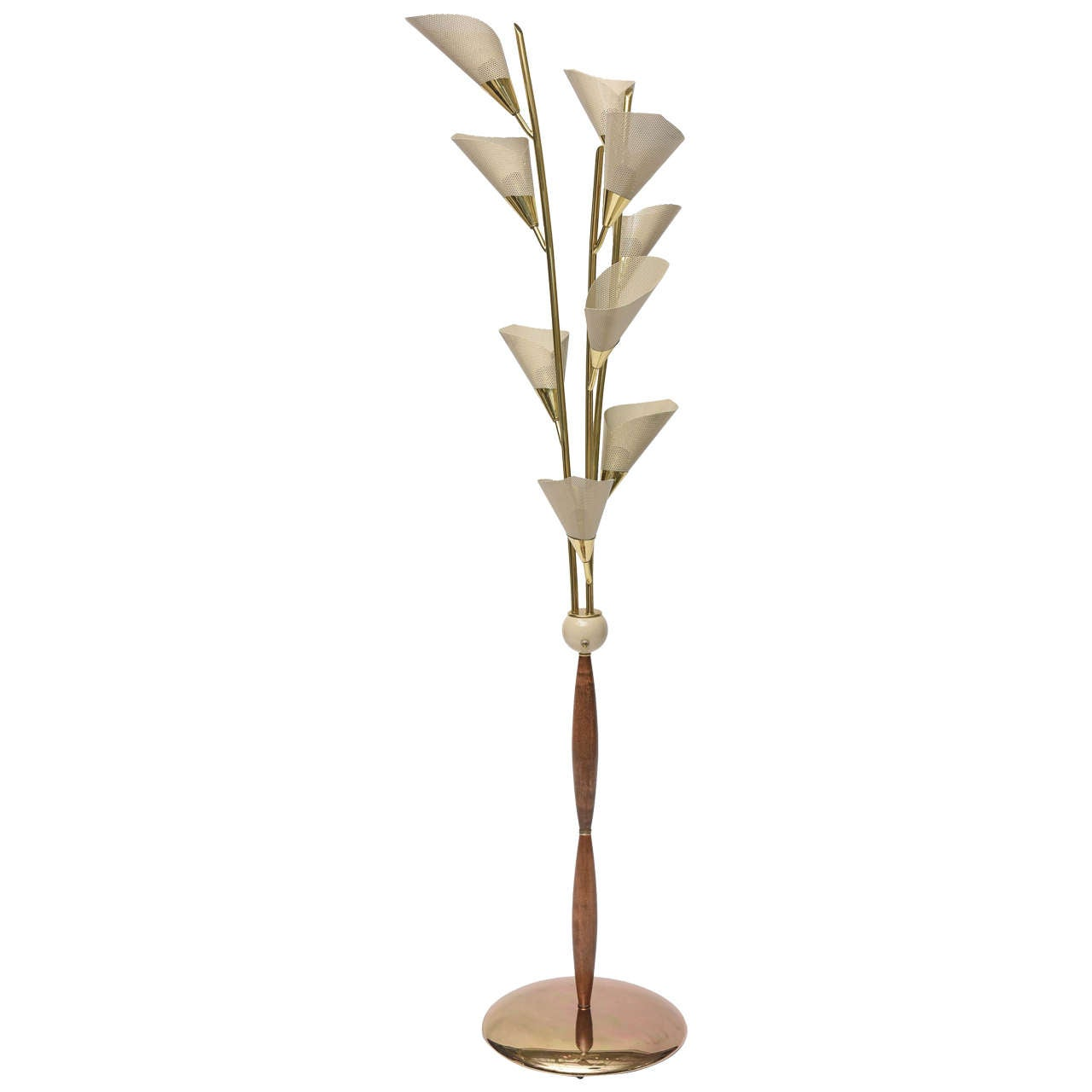 1950s italian calla lily floor lamp at 1stdibs for 1950 floor lamp
