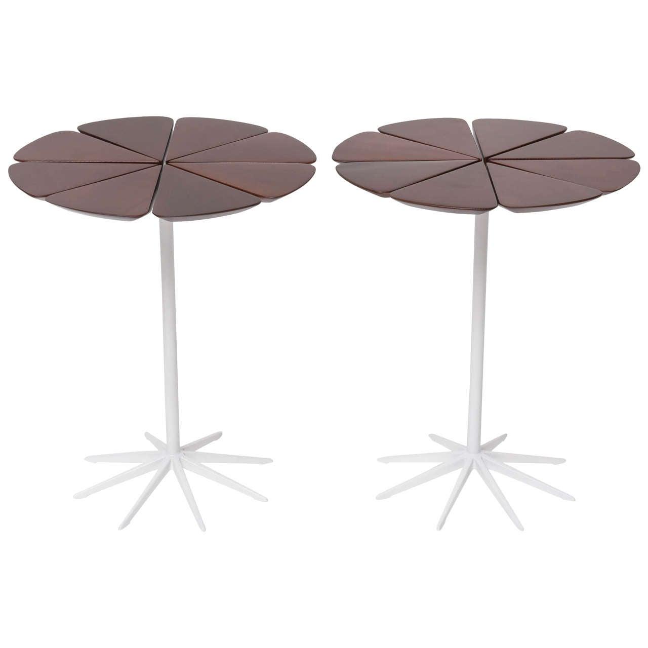 Pair of Richard Schultz Petal Side Tables