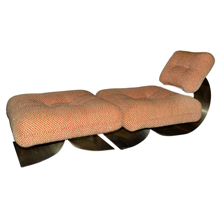 Brazilian 1968 1972 Easy Chair And Footrest By Oscar