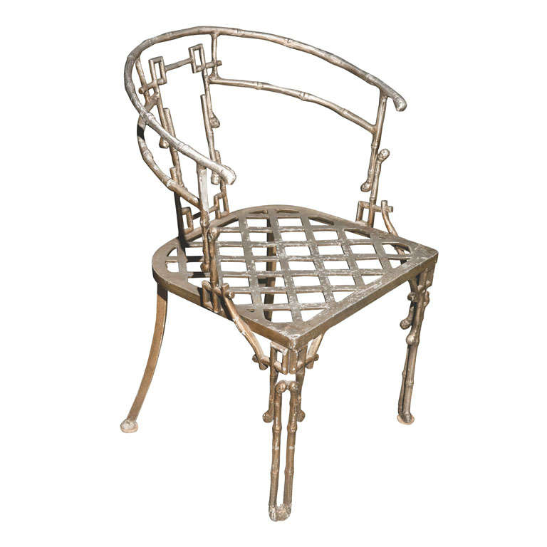 Faux Bamboo Barrel Back Chair At 1stdibs