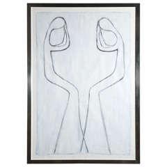 "Jmary - Painting, ""white Mirror"""