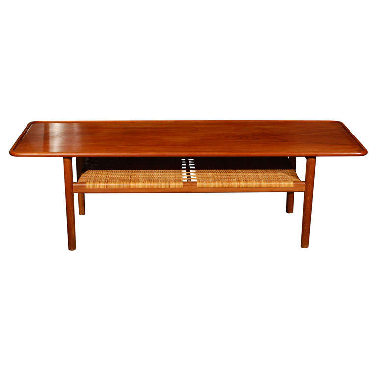 Hans Wegner Coffee Cocktail Table Teak For Andreas Tuck At 1stdibs