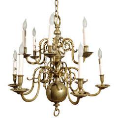 Twelve Arm, Late 19th Century Dutch Baroque Style Chandelier