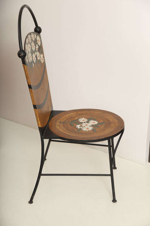 John Vesey Painted Chairs At 1stdibs