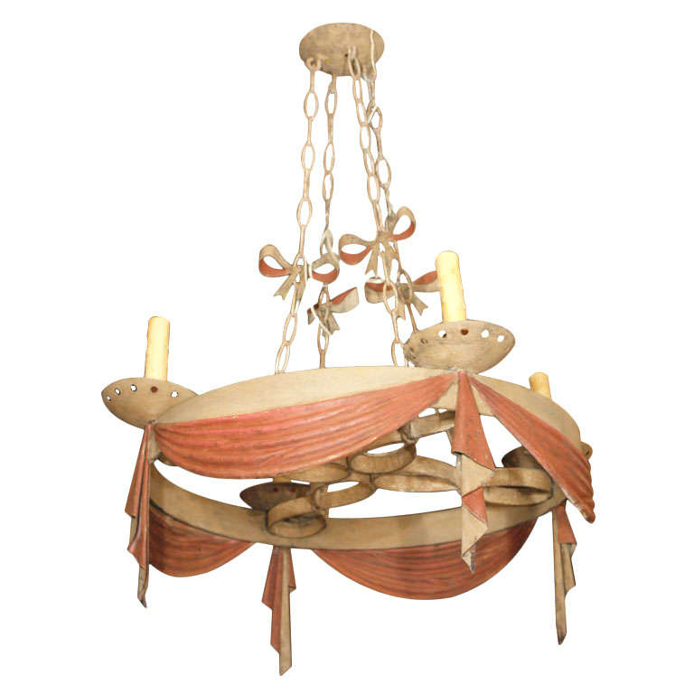 Portuguese Rustic Iron Chandelier At 1stdibs