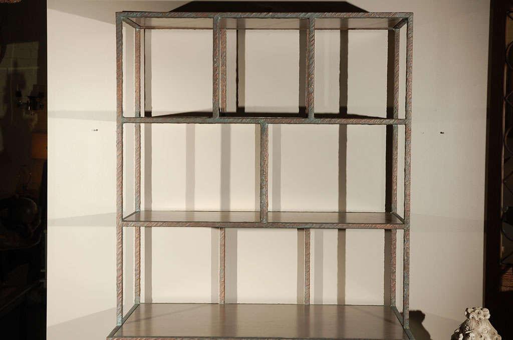 Modern Paul Marra Bookcase in Faux Bronze For Sale