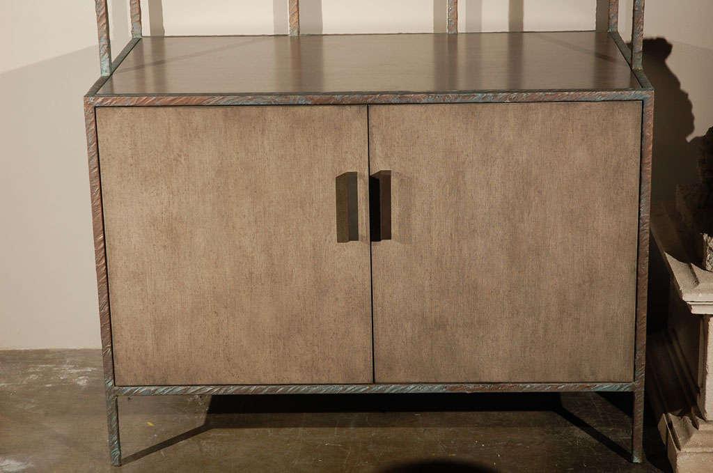 American Paul Marra Bookcase in Faux Bronze For Sale