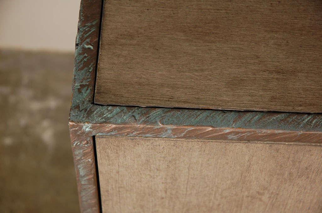 Contemporary Paul Marra Bookcase in Faux Bronze For Sale