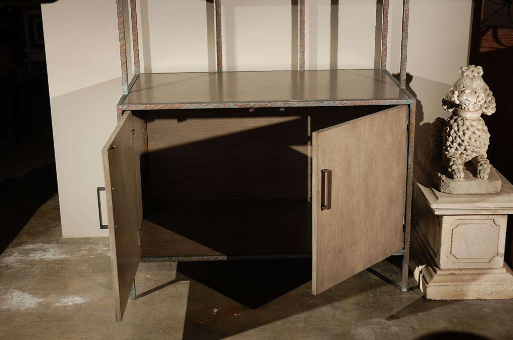 Paul Marra Bookcase in Faux Bronze For Sale 1