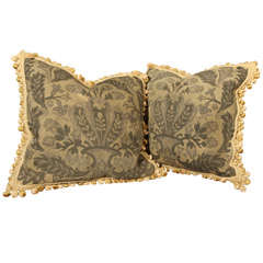 pair tapestry pillows