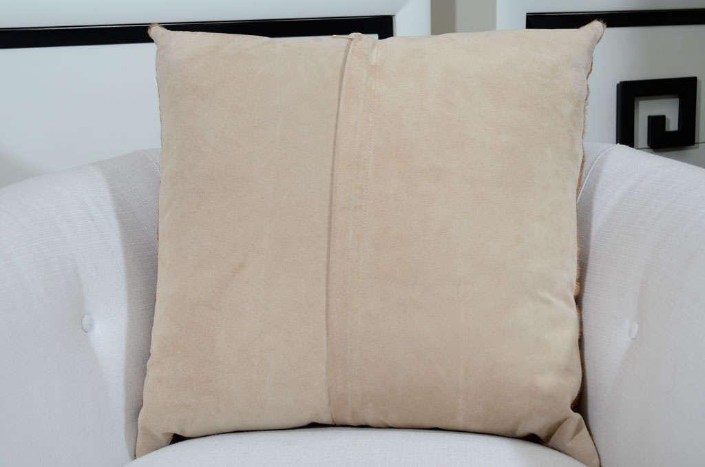 Herringbone Stenciled Cowhide Pillow 3