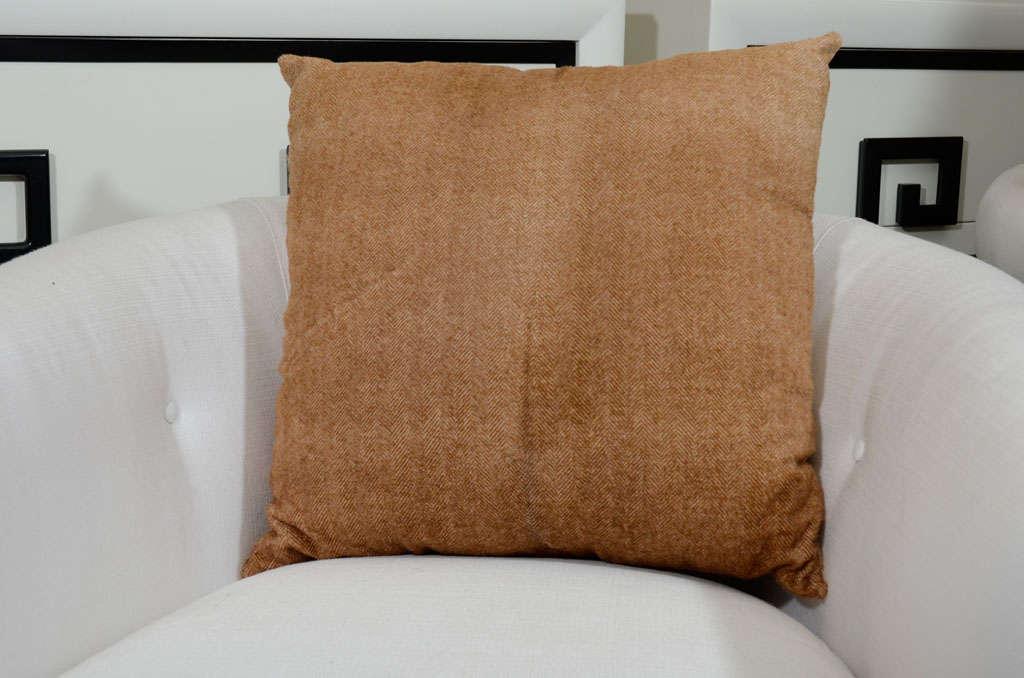 Herringbone Stenciled Cowhide Pillow 2