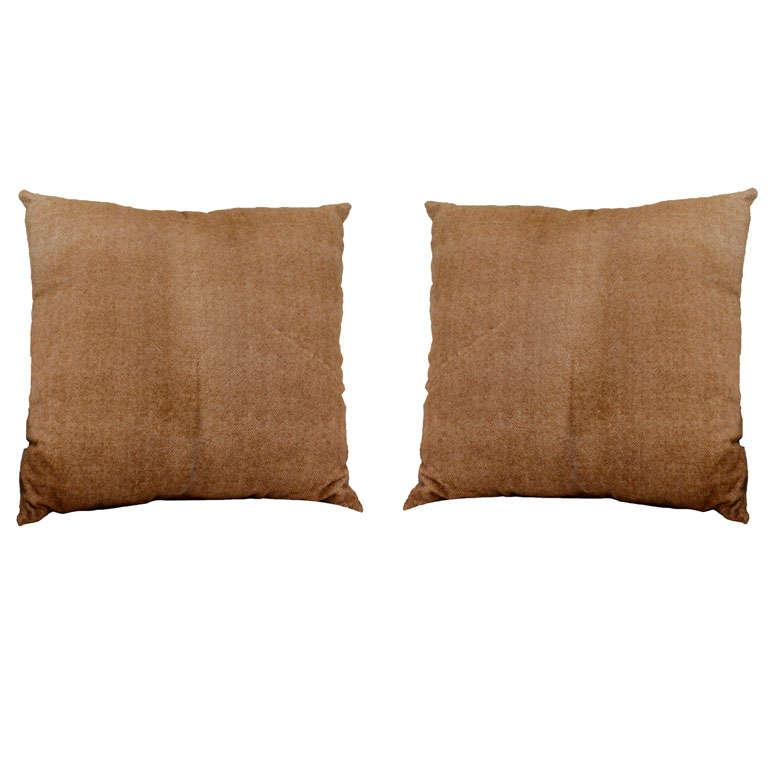 Herringbone Stenciled Cowhide Pillow 1