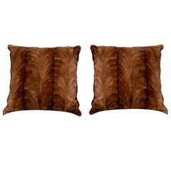 Caramel Sheared Mink Pillow