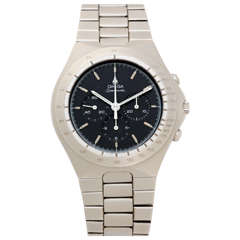 Omega Stainless Steel Speedmaster Mark V Chronograph Wristwatch circa 1982