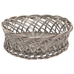 Sterling Silver Woven Bottle Coaster