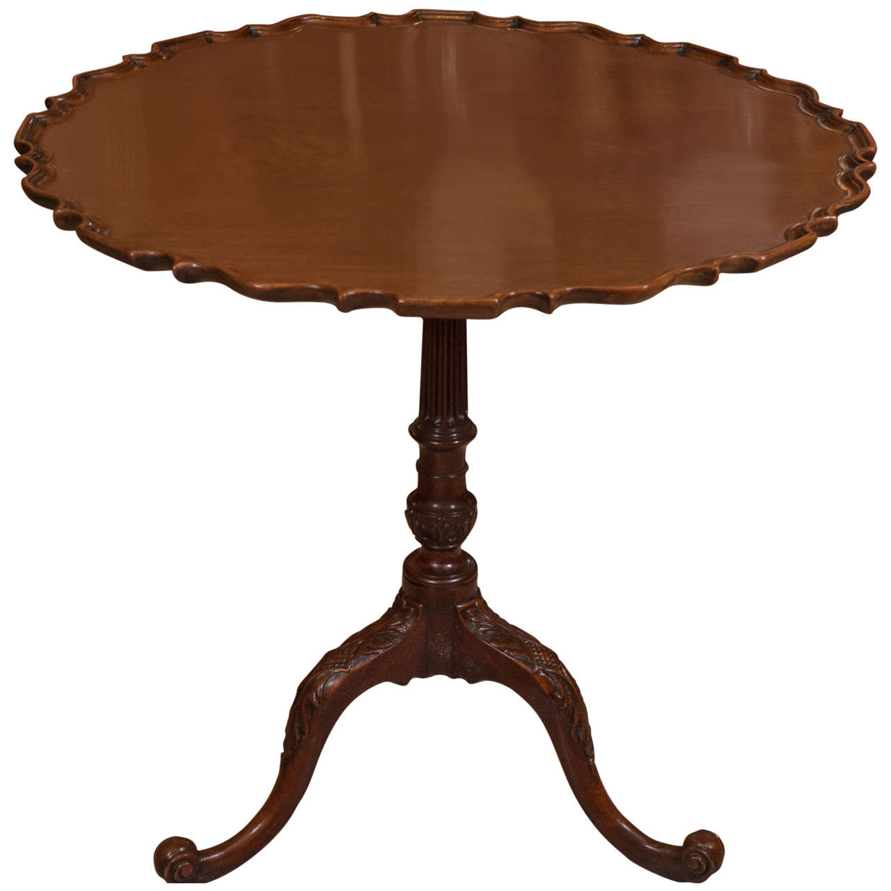 Large George Ii Carved Pie Crust Table For