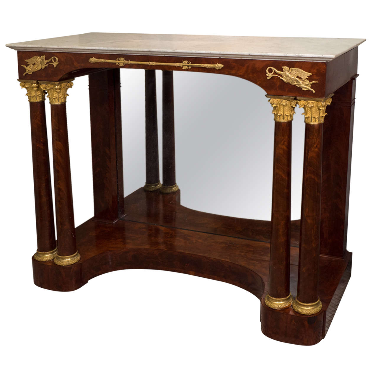 Superbe Fine French Empire Pier Table For Sale
