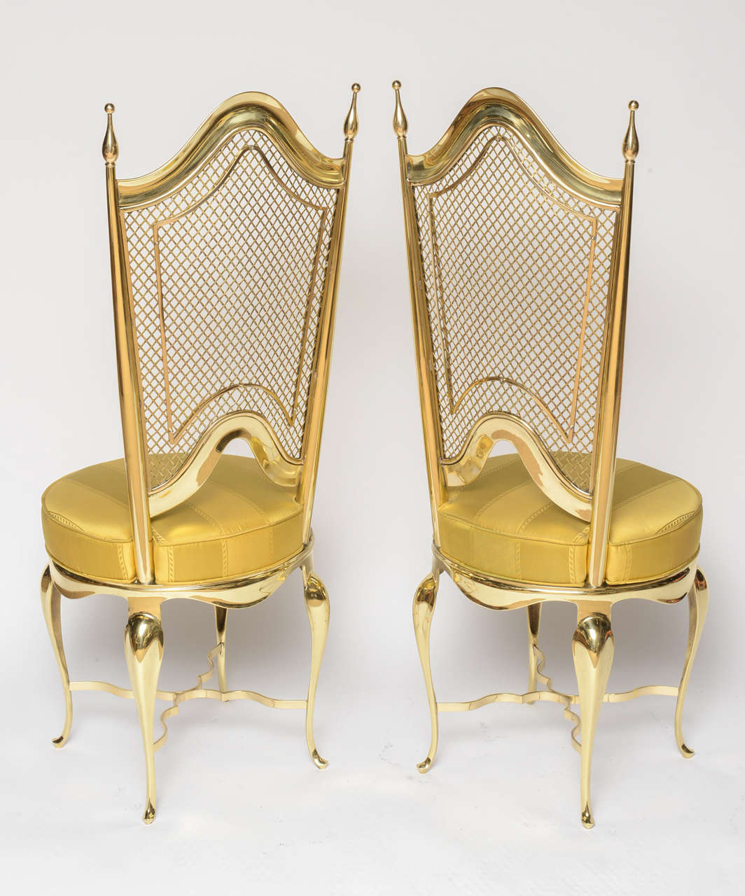Extremely Unique Brass Accent Chairs At 1stdibs