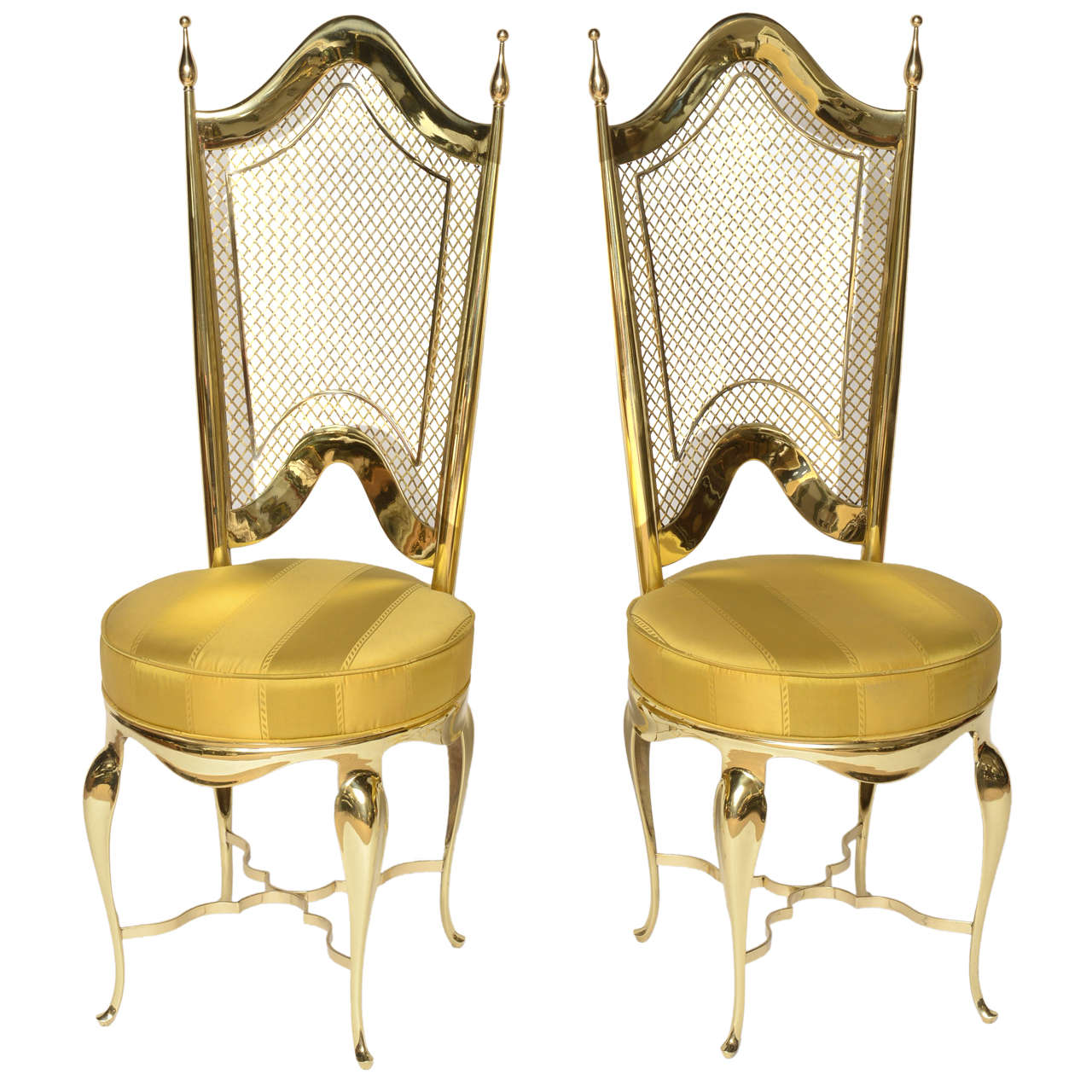 Unique Accent Chairs: Extremely Unique Brass Accent Chairs At 1stdibs