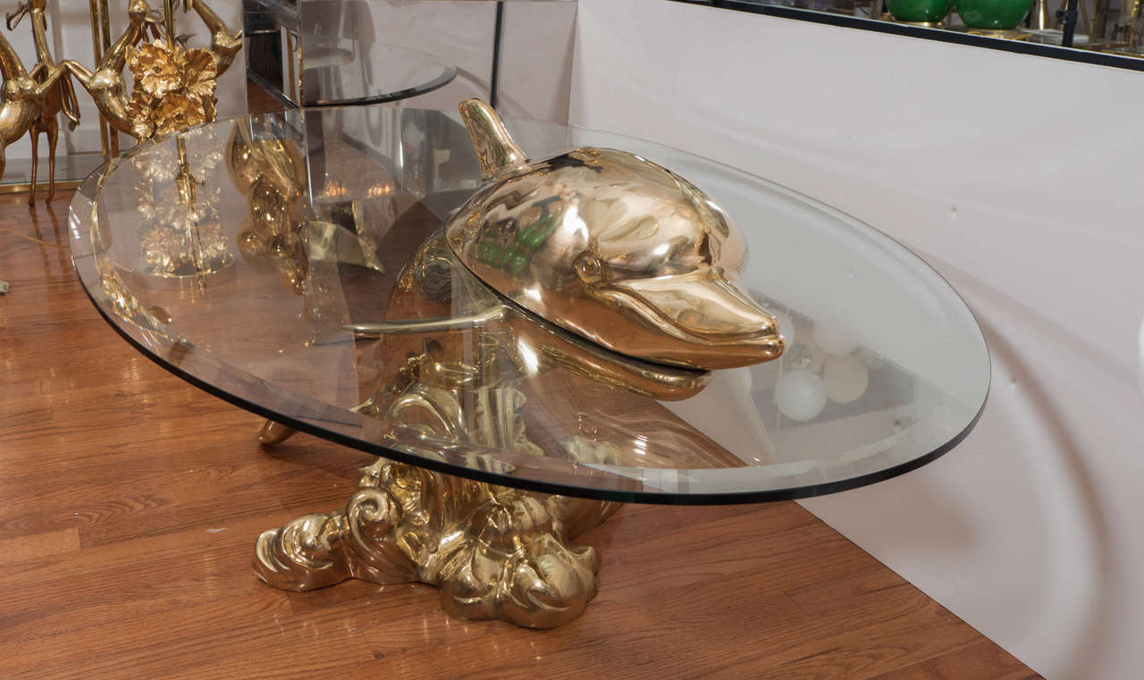 Dolphin Coffee Table At 1stdibs
