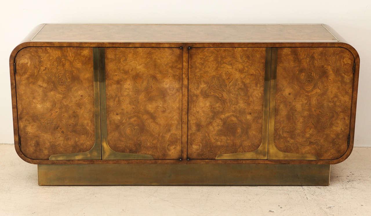 Burled elmwood cabinet by Mastercraft.