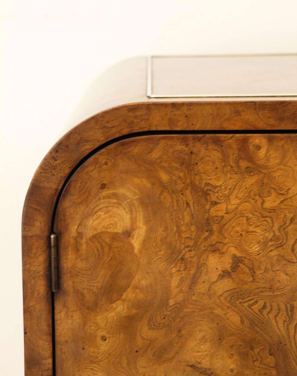 Burled Elmwood Cabinet by Mastercraft For Sale 1