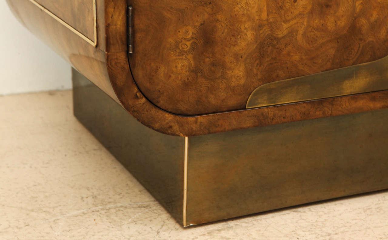 Burled Elmwood Cabinet by Mastercraft For Sale 2