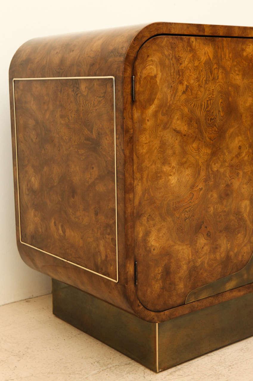 Burled Elmwood Cabinet by Mastercraft For Sale 3