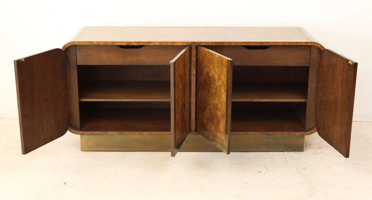 Burled Elmwood Cabinet by Mastercraft For Sale 4
